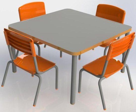 Conjunto Coletivo Mesa com 4 cadeiras COD 165