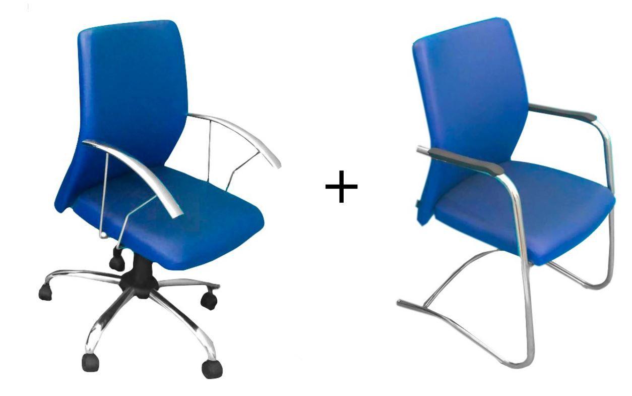 Kit Cadeira Diretor + Cadeira Interlocutor COD 220 OBS: CADEIRA DE MOSTRUÁRIO