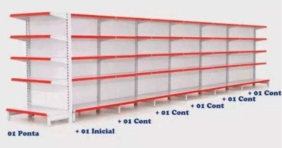 Kit Gôndola Centro 1 Inicial + 5 Continuações + 1 Ponta Flex 40 COD 622