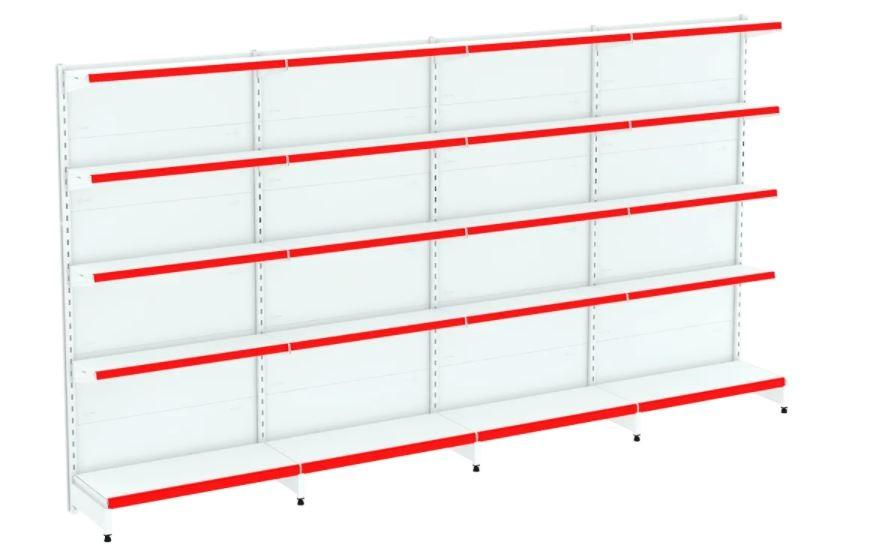Kit Gôndola Flex 40 Parede 1 Inicial + 3 Continuações COD 649