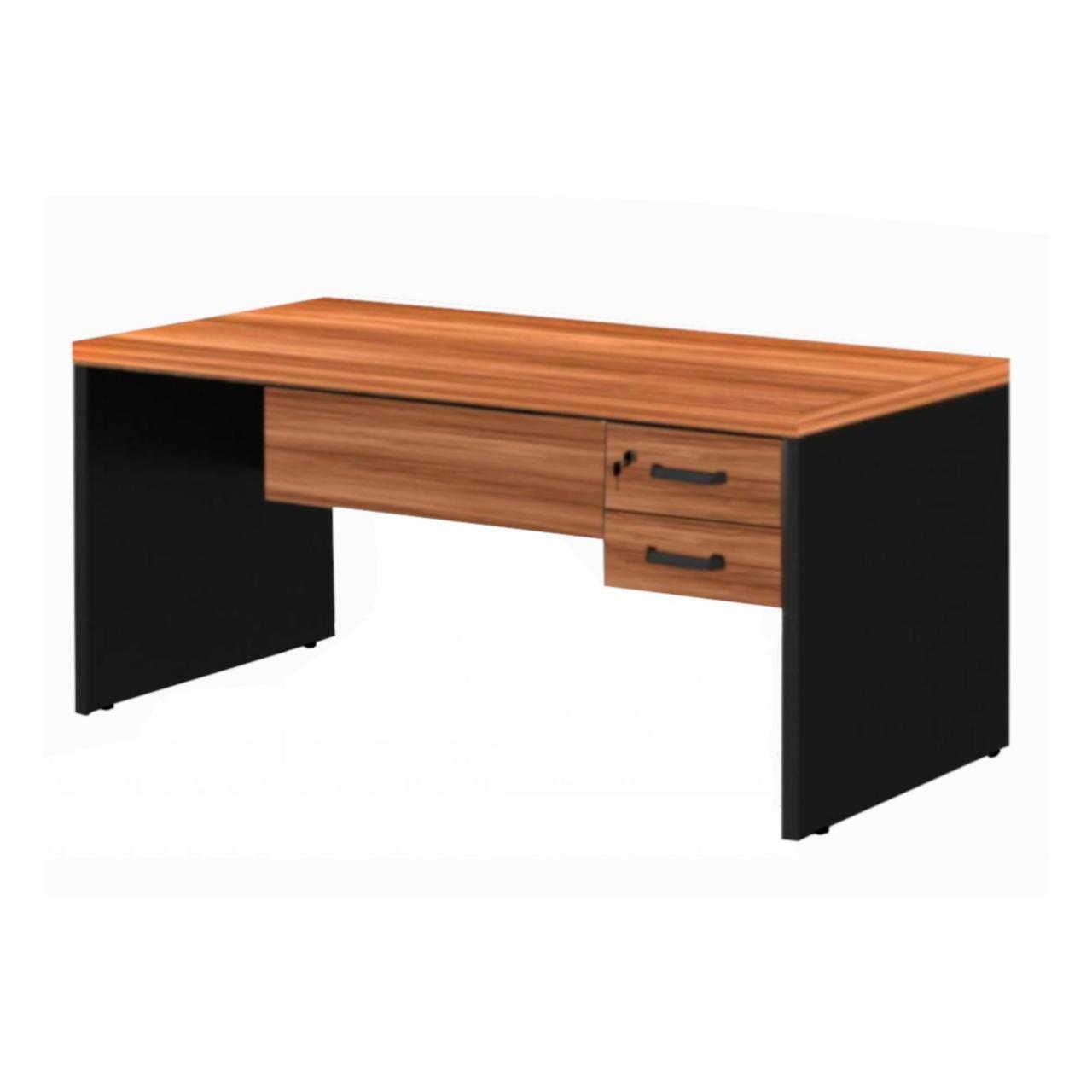 Mesa Escritório 1,50x0,60m -02 Gavetas  - MALAGA/PRETO COD 542