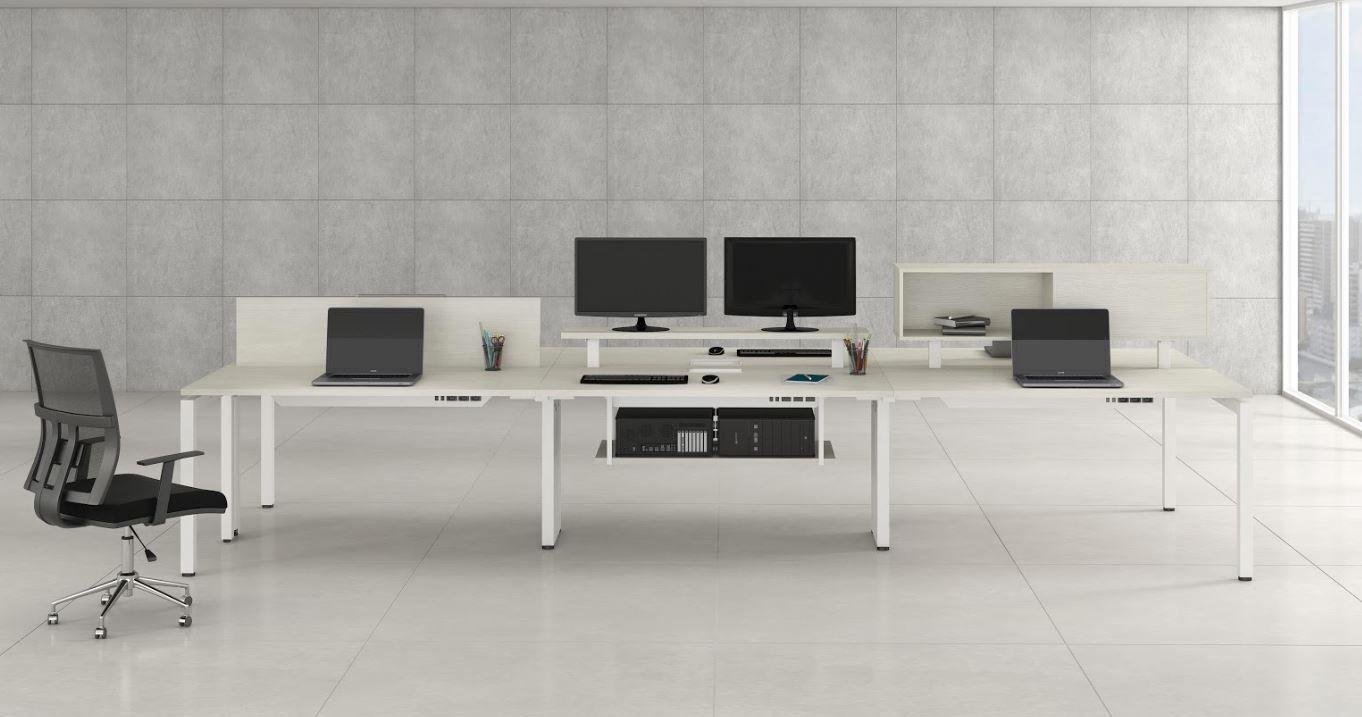 Mesa Escritório com Divisões e Níveis Linha Lexus COD 287