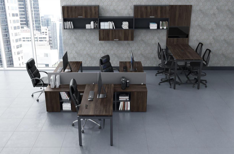 Mesa Estação de Trabalho com Bancadas Acopladas Linha Lexus COD 300