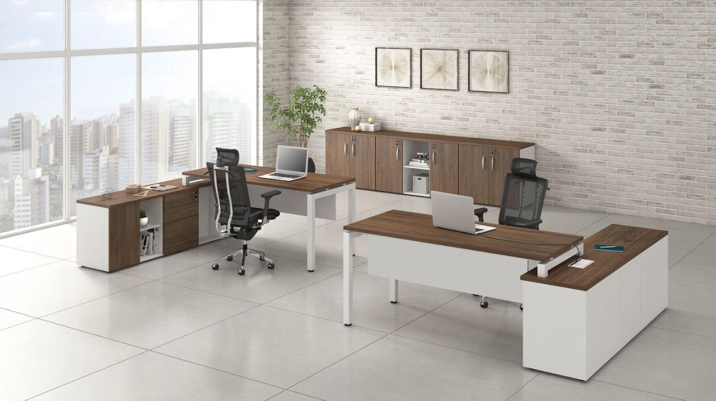 Mesa para Escritório e Armário Baixo Linha Lexus
