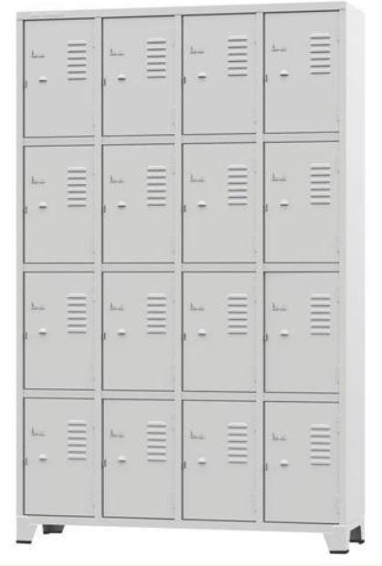 ROUPEIRO GRA 1/16 #26 ESPECIAL 16 portas pequenas na cor cinza COD 334