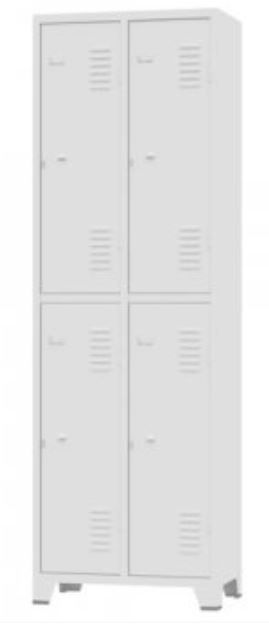 ROUPEIRO GRA 2/4 #26 com  04 Portas Grandes cor cinza COD 346