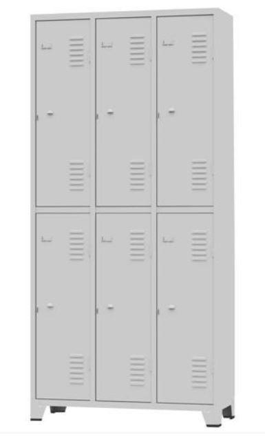 ROUPEIRO GRA 2/6  # 26 06 Portas Grandes cor cinza COD 348