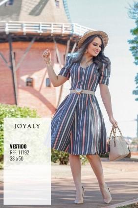 Vestido Evasê Jeans Joyaly Denim