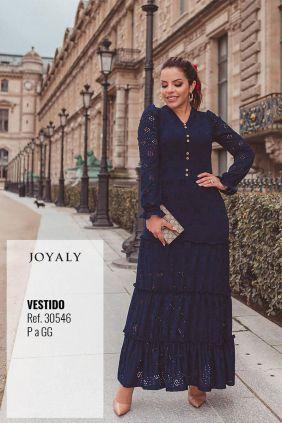 Vestido longo joyaly frances