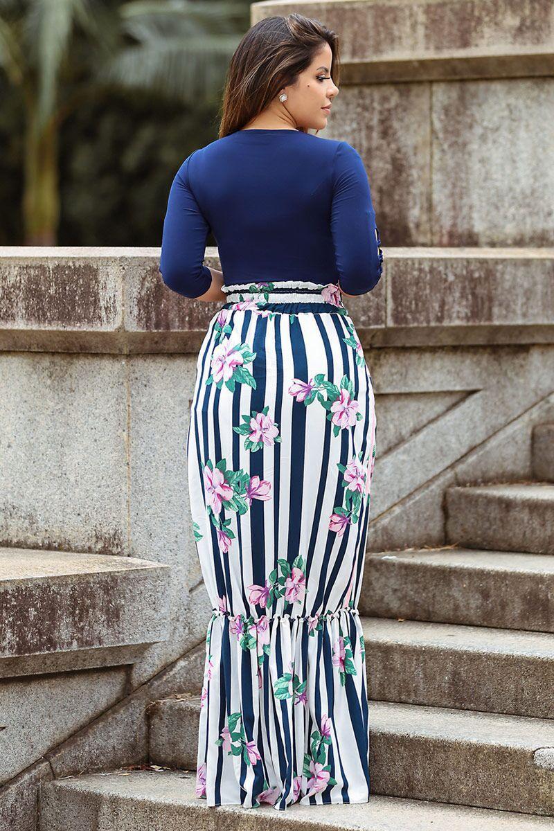 Body Azul Feminina em Malha com bojo - Kauly