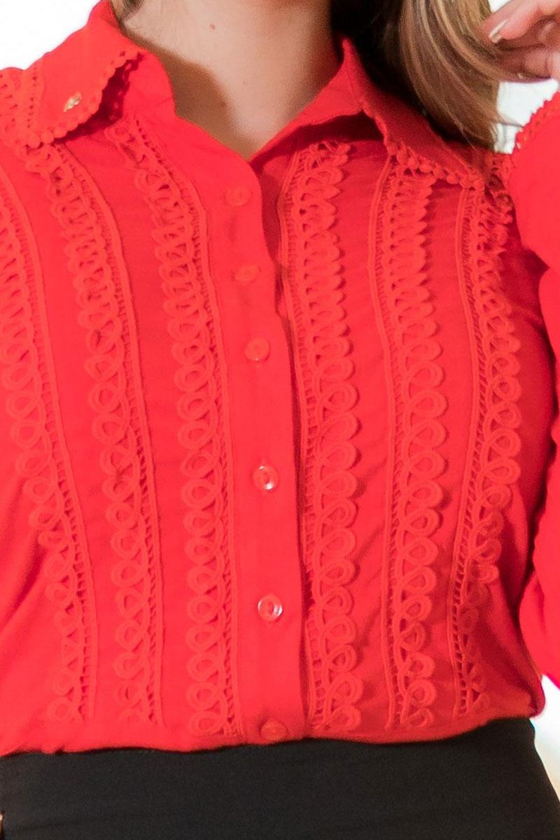 Camisa Manga Longa Vermelha Kauly