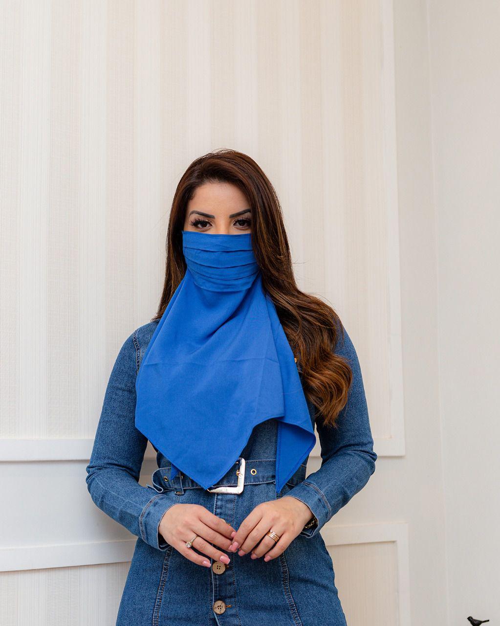 Mascara Lenço de Tecido Lavavél Fashion