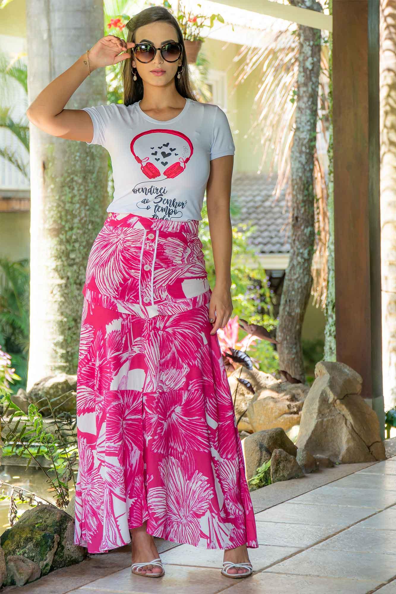 T-SHIRT LUCIANA PAIS EM MALHA 92964