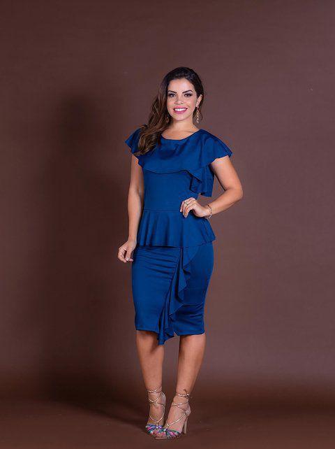 Vestido blue cascata joyaly