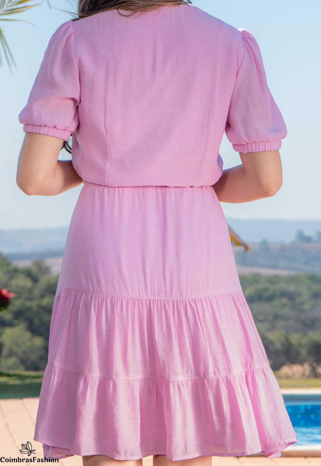 Vestido em cambraia com detalhes bordado luciana pais