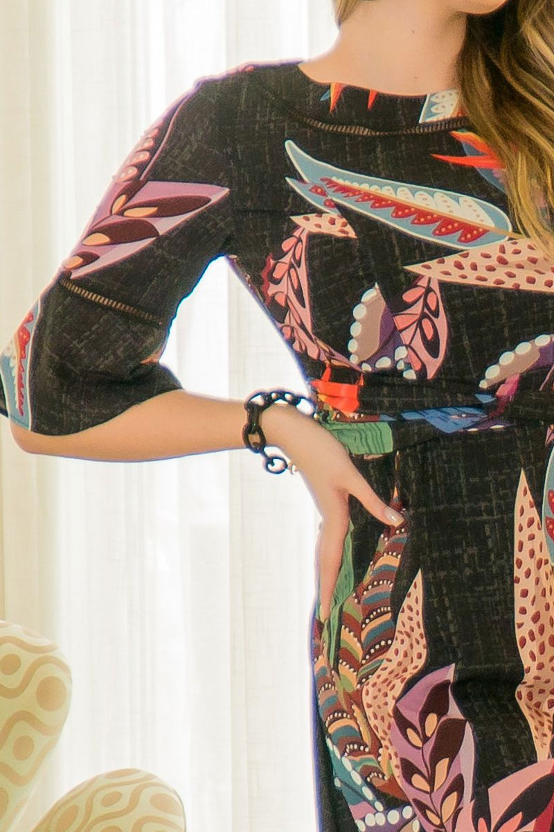 Vestido Evasê Kauly Detalhes Entremeio