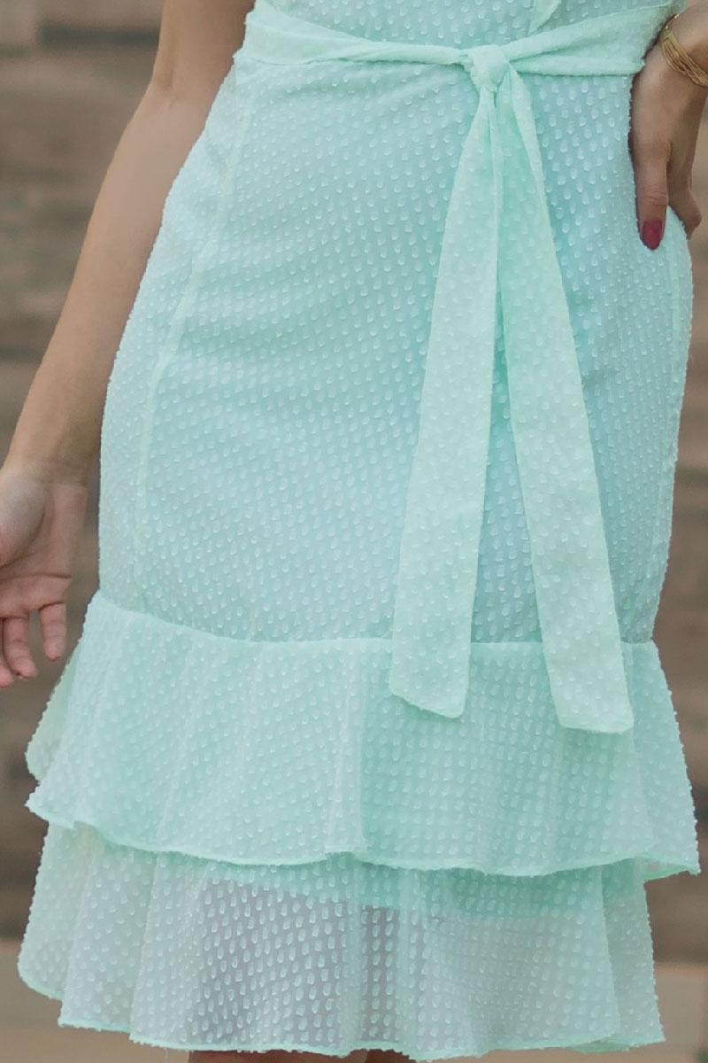 Vestido Evasê Luciana Pais com Laço