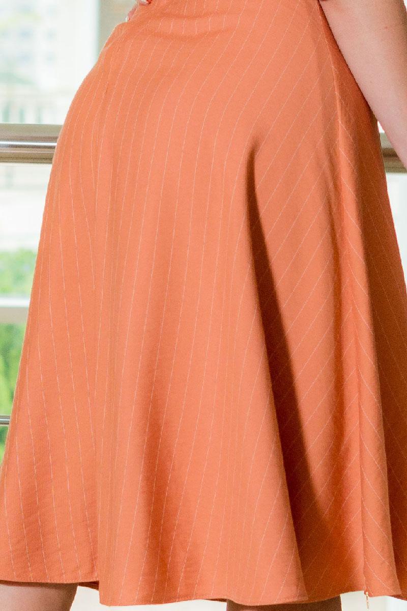 Vestido Evasê Manga 3/4 Kauly