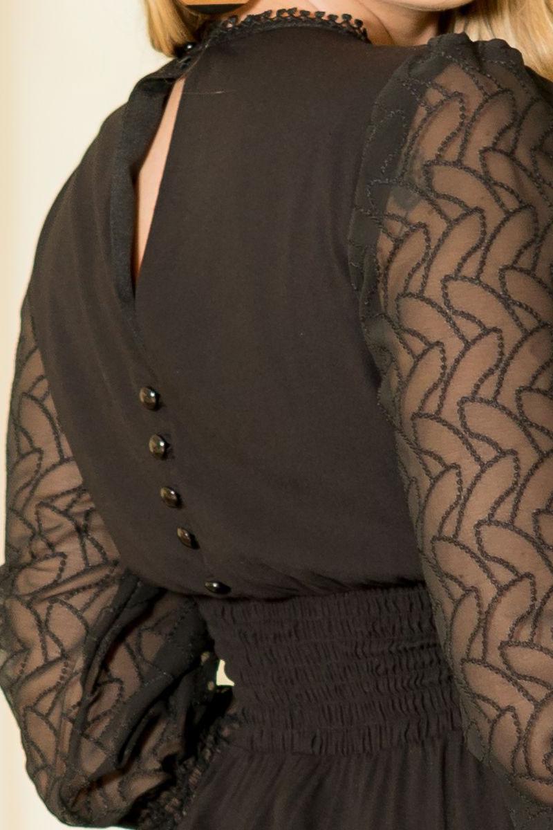 Vestido Evasê Preto Kauly