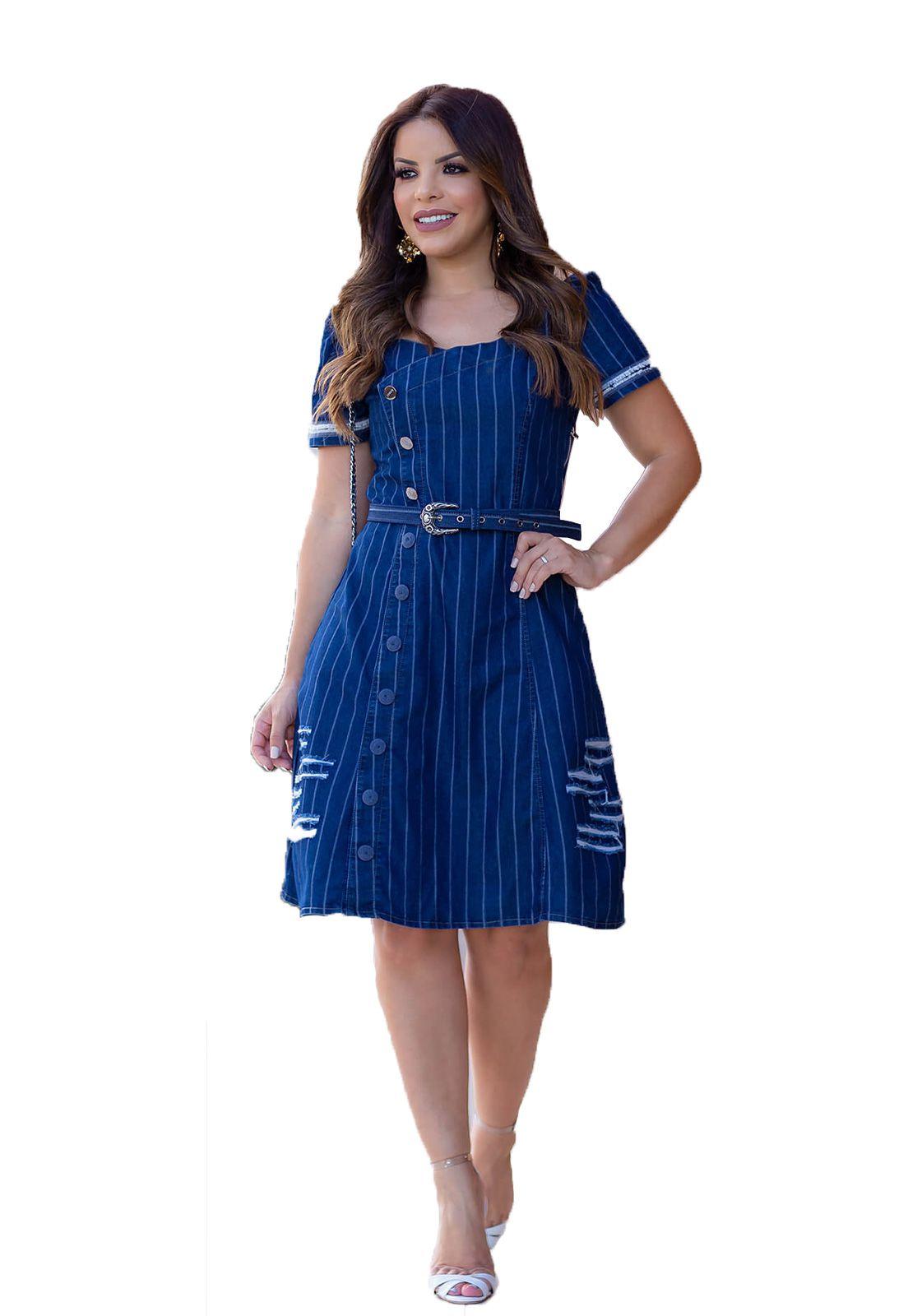 Vestido godê azul