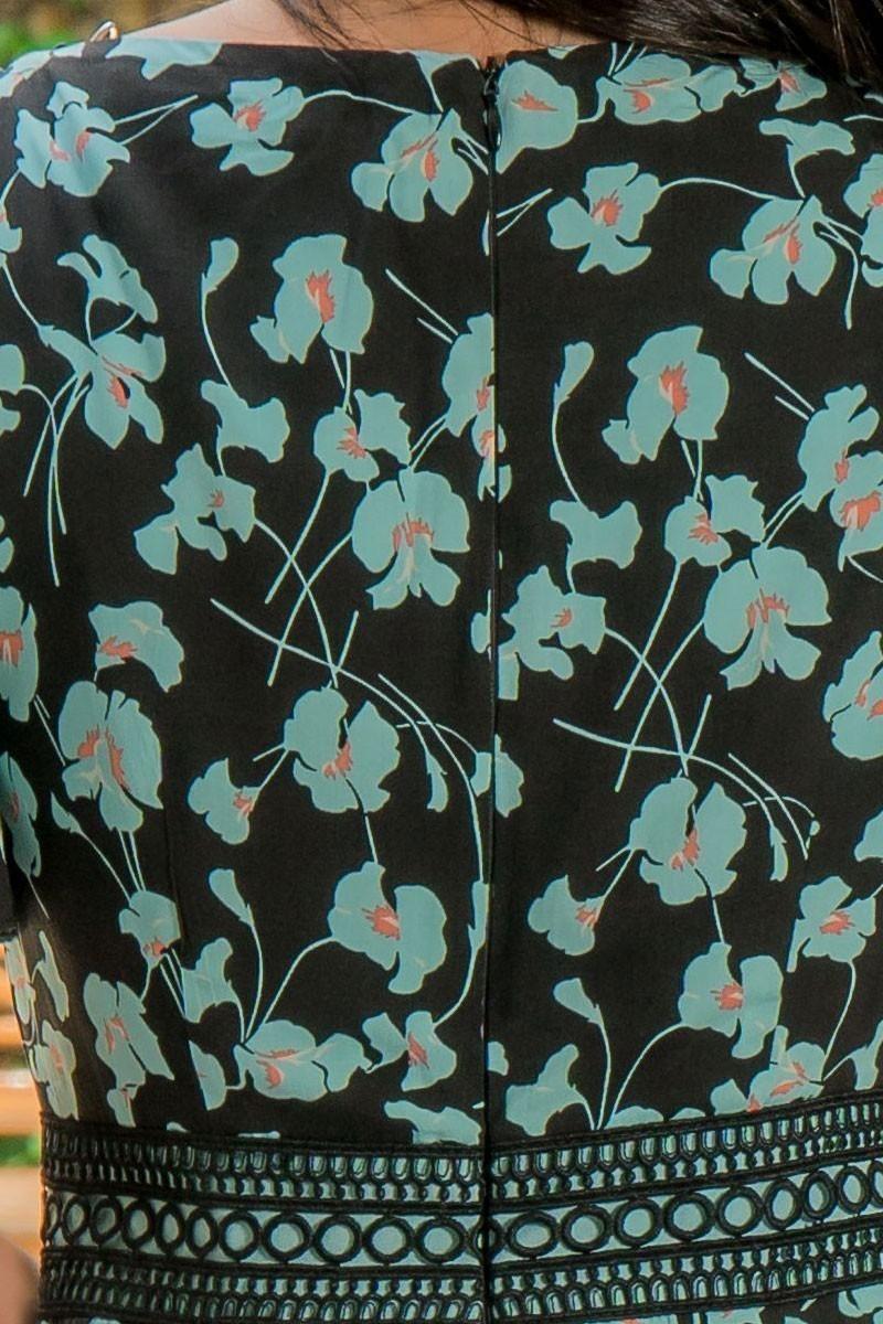 Vestido Justo Luciana Pais com Babado Estampado