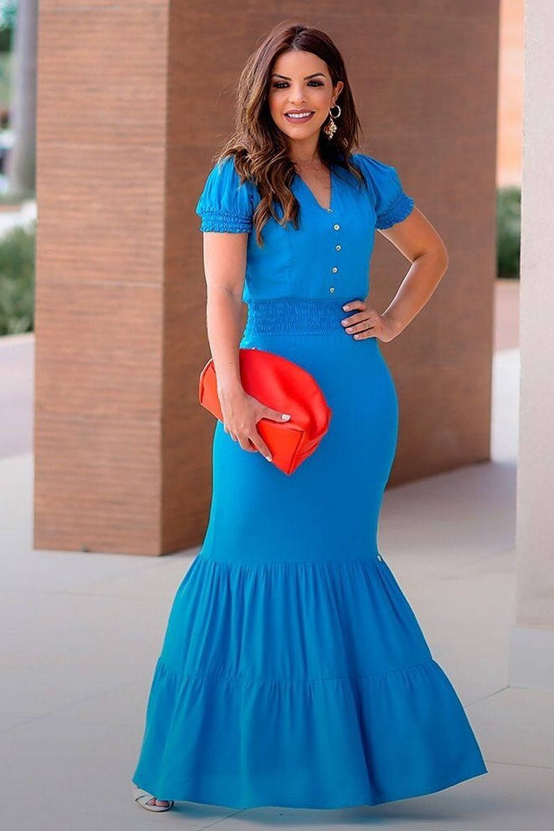 Vestido longo sereia joyaly