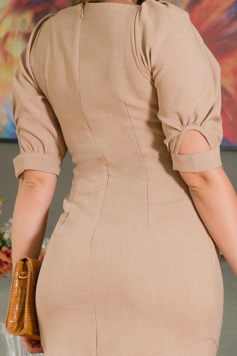 Vestido Midi Kauly com Fivela em Linho