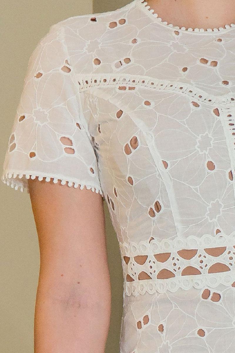 Vestido Tubinho kauly em Lasie Branco
