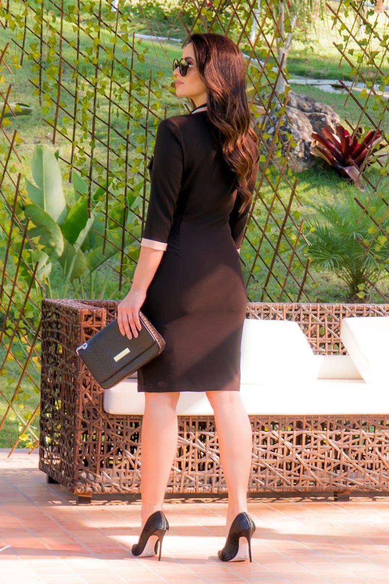 Vestido Tubinho Preto em Alfaiataria Luciana Pais