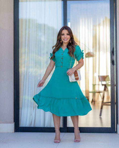 Vestido verde joyaly