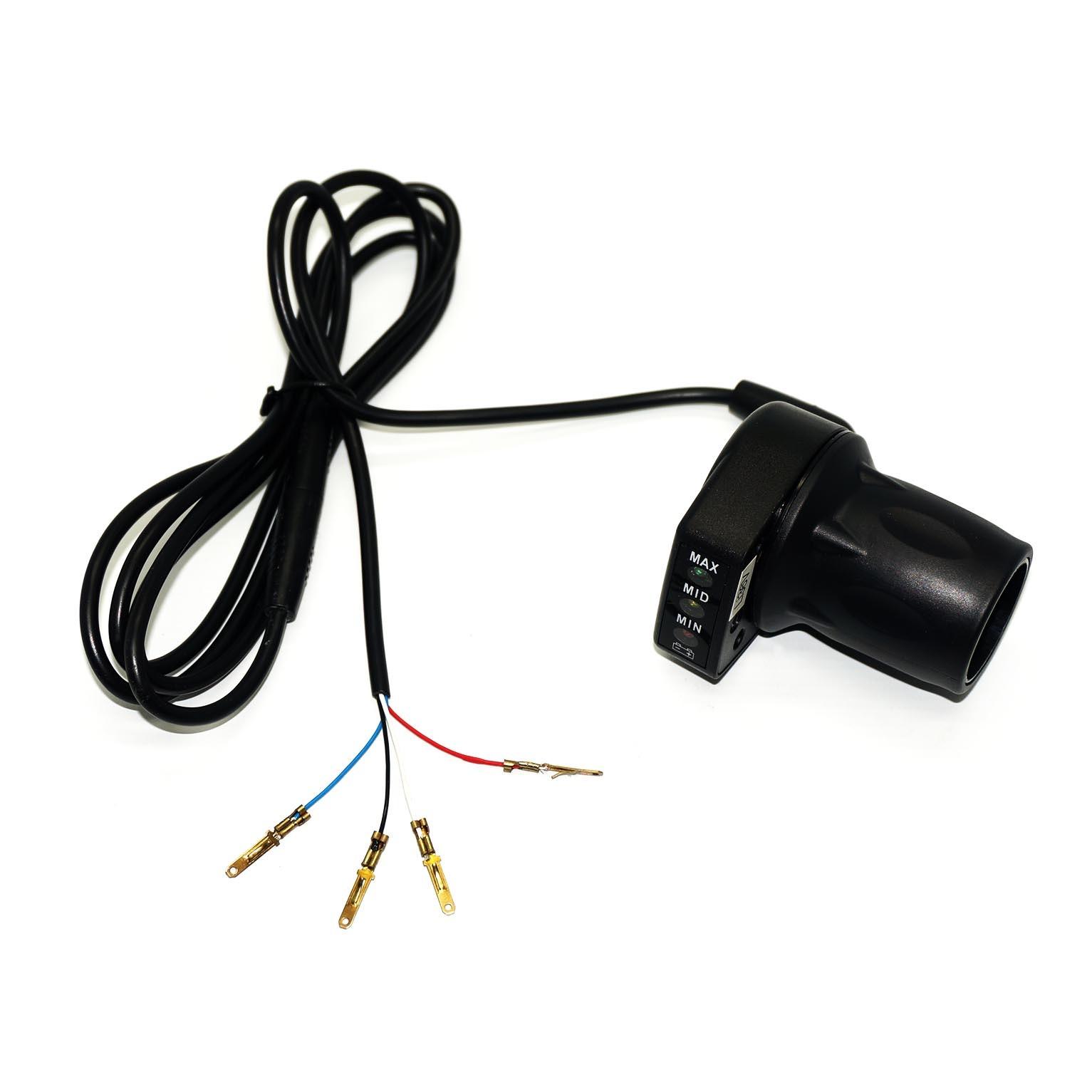 Acelerador C/ Marcador de Bateria 36v (Meio Punho)