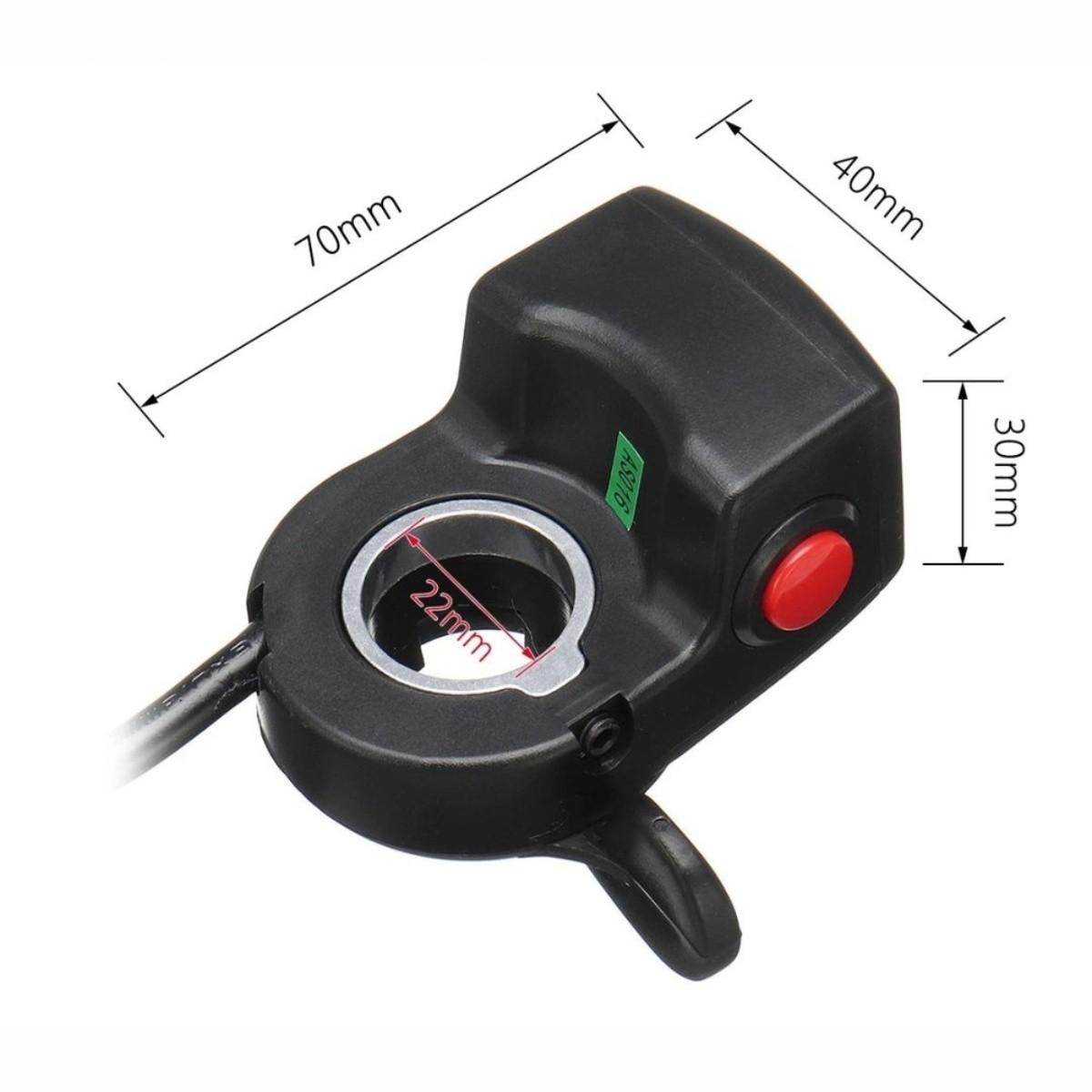Acelerador C/ Marcador de Bateria 36v (Dedo)