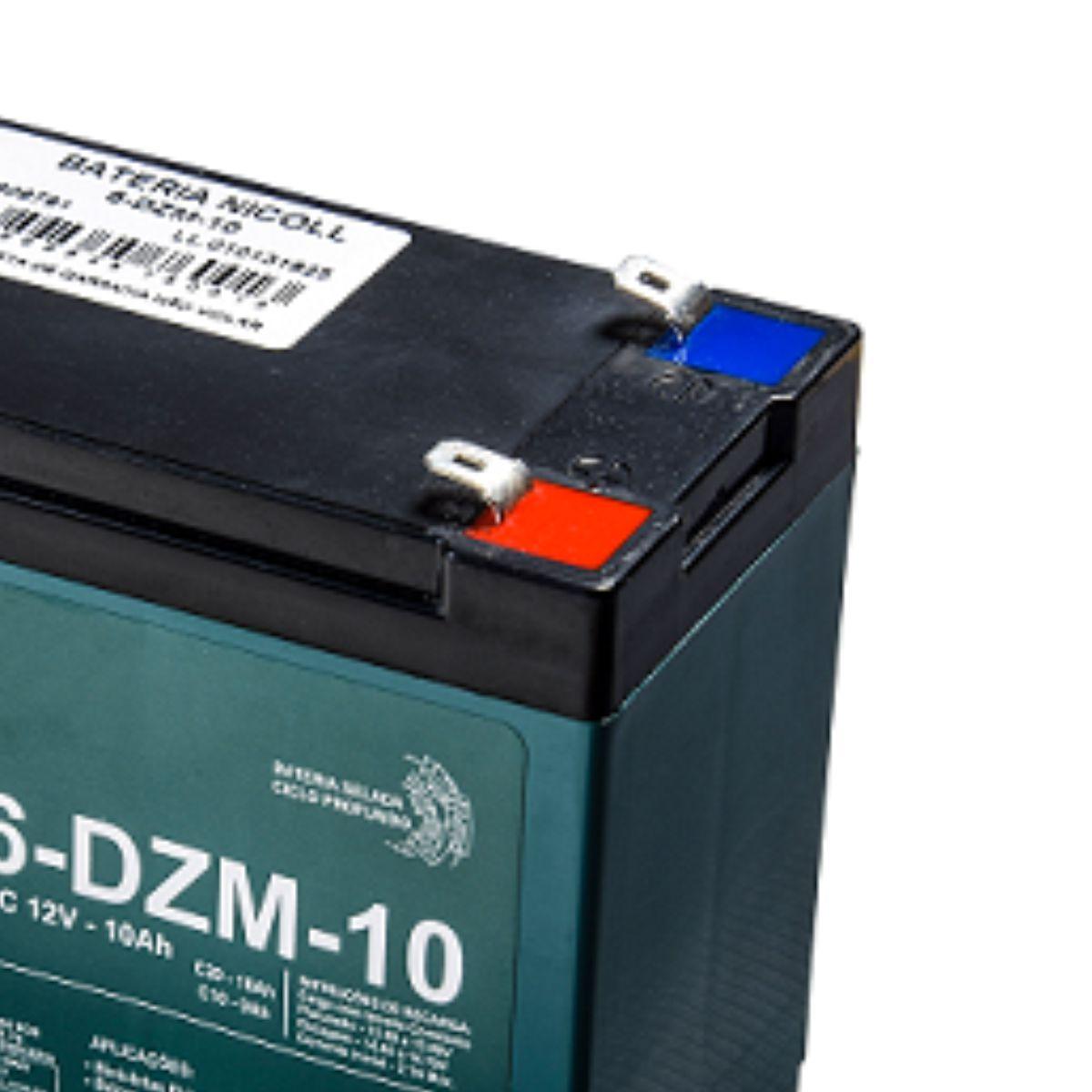 Bateria de Chumbo Ácido, Nicoll, VRLA, EV-12v 10ah