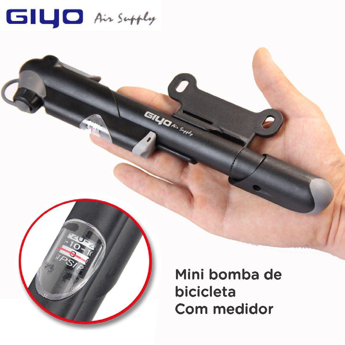 Bomba Mini Pump Gp41 C/ Manômetro Giyo