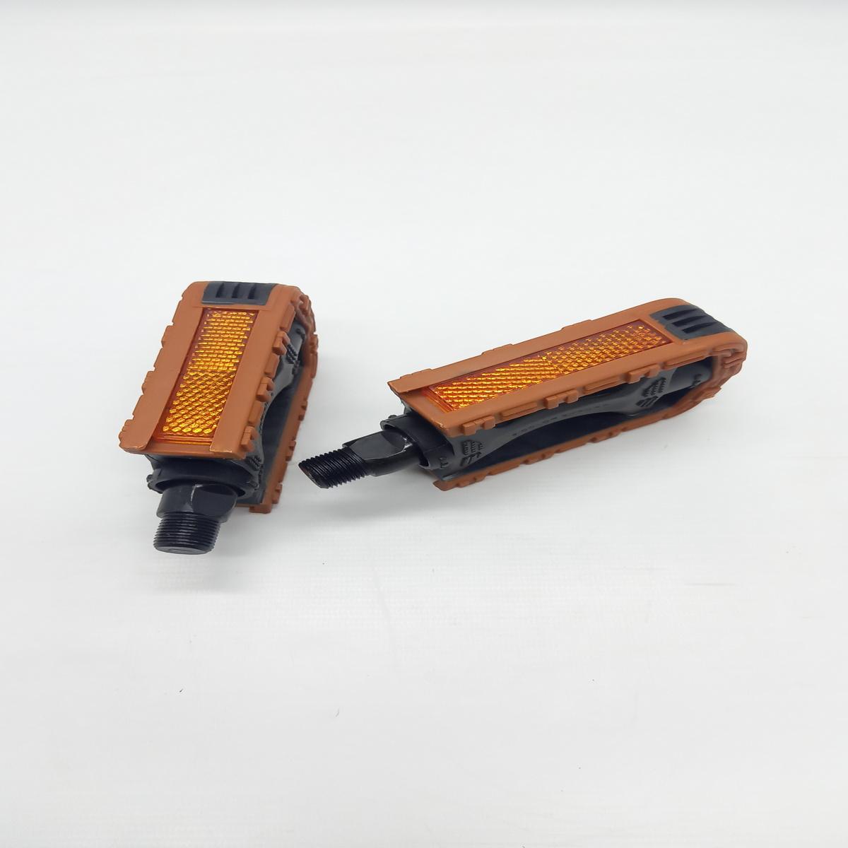 Pedal MTB, PP, 9/16, Bicolor   Cor: Marrom