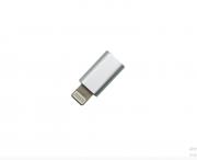Adaptador Conversor V8 Micro Usb para iPhone Lelong Prata