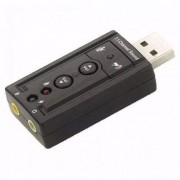 Adaptador Placa De Som Usb 7.1 Canais 3d Audio Notebook Pc