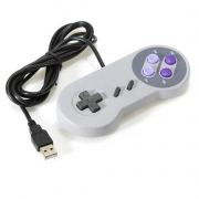 Controle Usb Super Nintendo Snes Joystick Windows Mac Linux