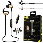 Fone  Bluetooth Intra-auricular Sound Bass Fb-bt-1 Dourado
