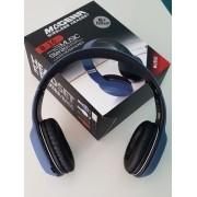 Fone Headphone Music Stereo Wireless Extra Bass Magena B16 Preto