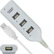 Hub 4 Portas Usb 2.0 Smart Com Switch e Led Indicador