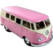 Miniatura Volkswagen Kombi 1962 Clássico Escala 1:32 Rosa