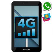 Tablet Hyundai 7 Pol Dual Chip 4G 8Gb Hdt-7435 Preto Usado
