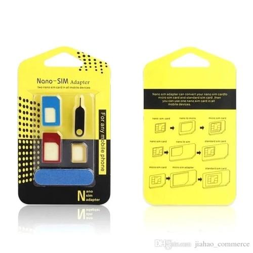 Adaptador Chip 3 Em 1 Celular Mini Micro Nano Sim Premium Original