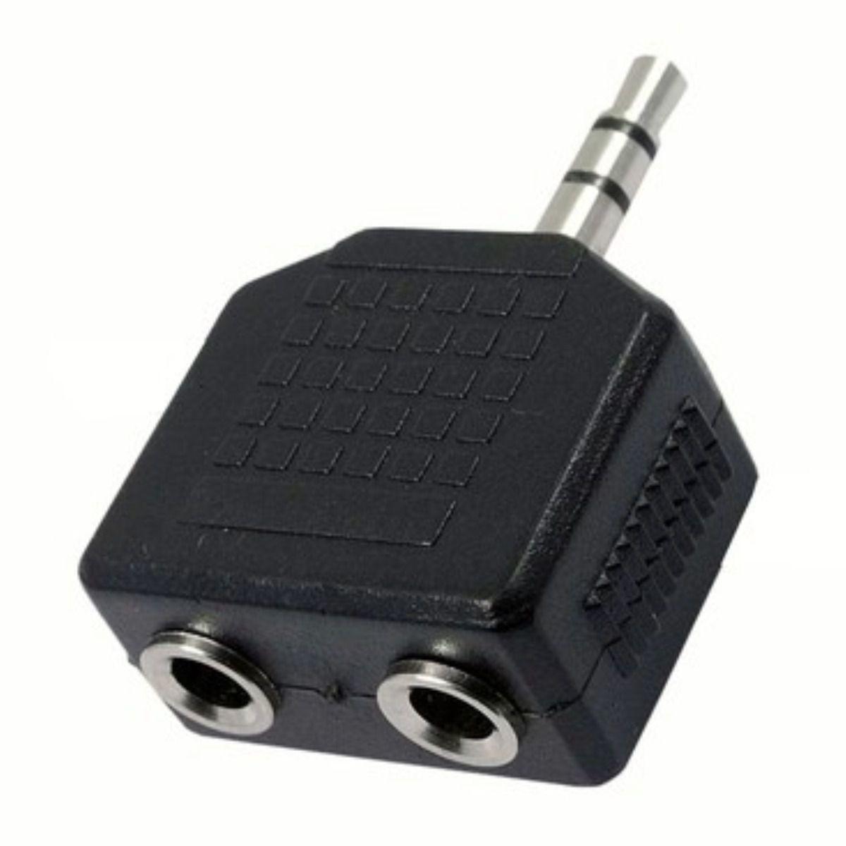 Adaptador De Áudio 1 P2 Macho Para 2 P2 Femea