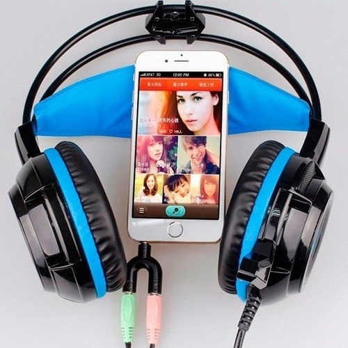 Adaptador P2 para 2 P2 Fêmea Headset Xbox PS4 Fone Microfone Preto
