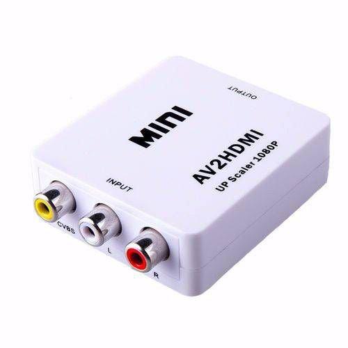 Cabo Adaptador Hdmi X Rca Dourado + Mini Adaptador Conversor