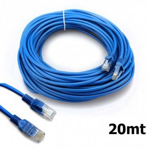 Cabo De Rede Rj-45 Ethernet Reforçado Crimpado 20 Metros