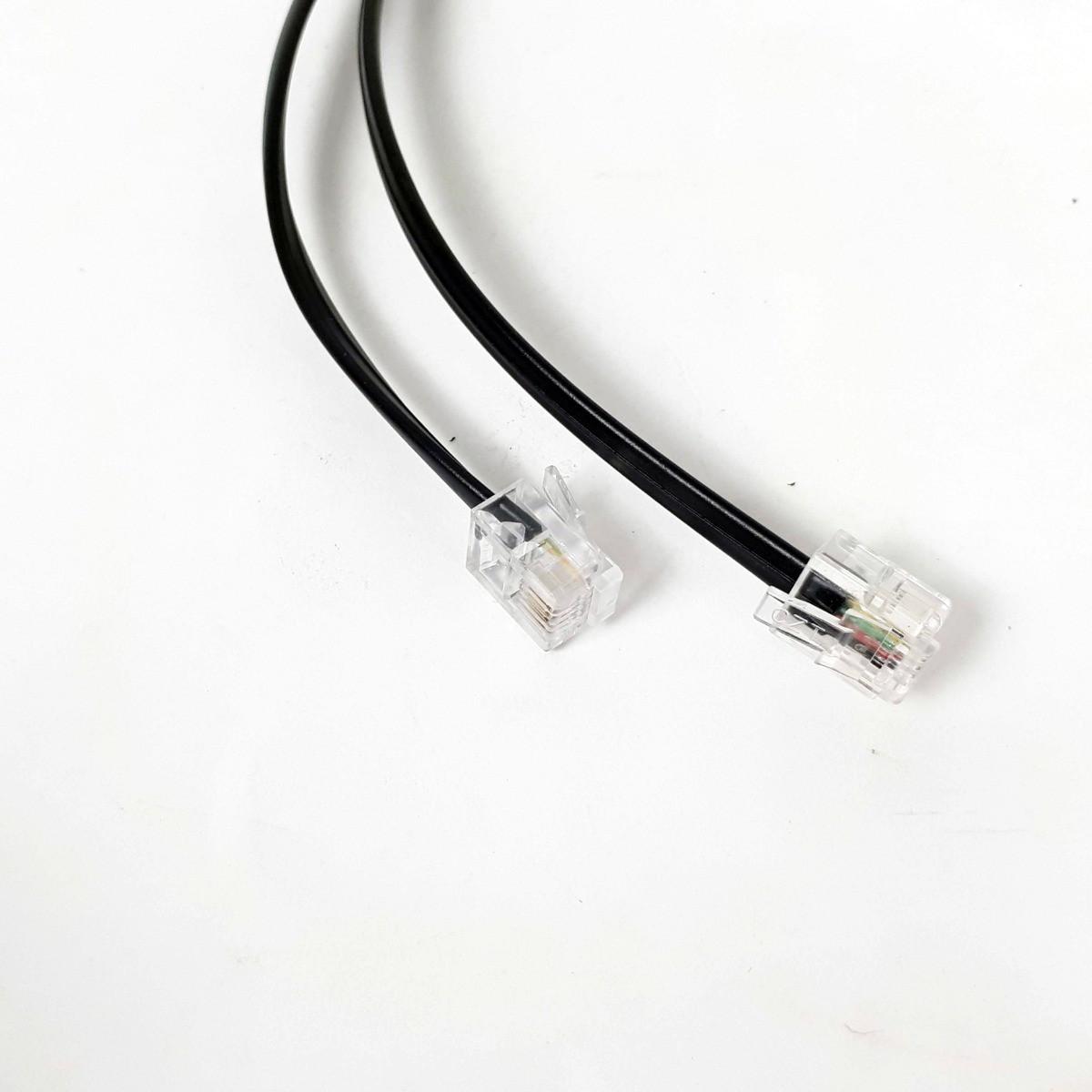 Cabo Extensor Para Telefone Com Plug Rj11 2 Metros Preto