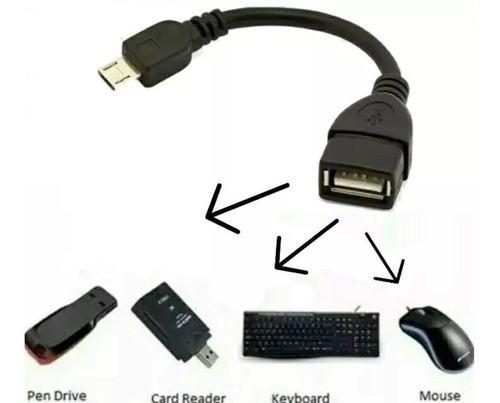 Cabo Otg Adaptador V8 Micro Usb Para Usb Fêmea Otg Mouse Usb